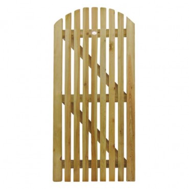 CURVED PICKET GATE 1.8M H X .9M W