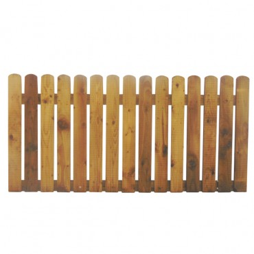 """100MM (4"""") PALING ROUNDED PICKET FENCE PANEL 25MM GAP - 0.9 (3FT) X 6FT (1.83m)"""