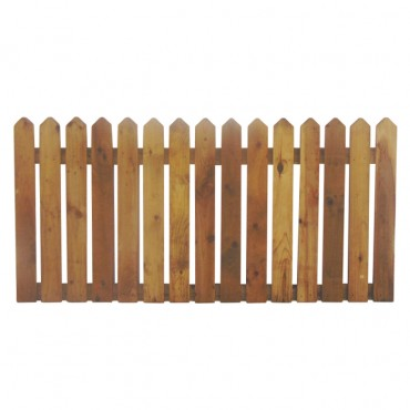 """100MM (4"""") PALING POINTED PICKET FENCE PANEL 25MM GAP - 0.9 (3FT) X 6FT (1.83m)"""