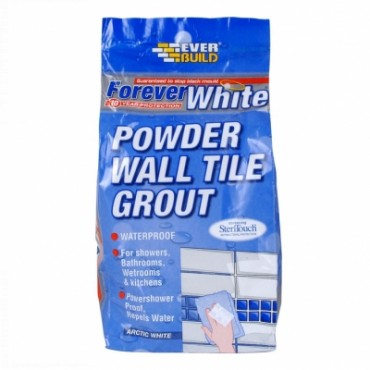 FOREVER WHITE POW WALL TILE GROUT 3KG FWPOWGROUT3