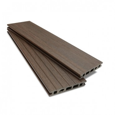 MC COMPOSITE PLUS DECK BOARD 150MM X 25MM. MID BROWN