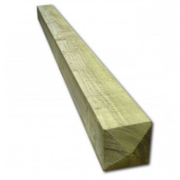 GATE POST WEATHERED TOP GREEN TREATED 2400MM X 200MM X 200MM