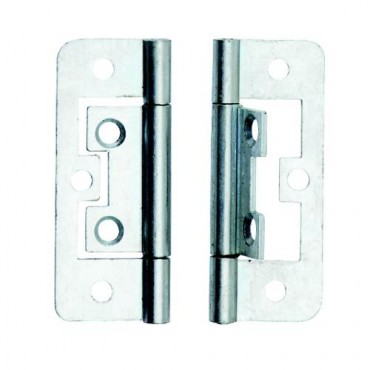 BZP 50mm Flush Hinge (x2) - Dalepax DX40509