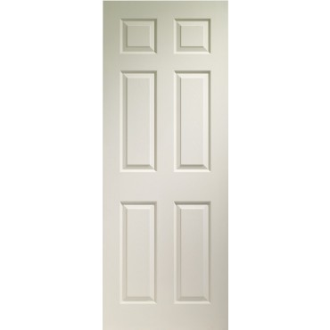 "Internal White Moulded Colonist 6 Panel Grained Door 1981 x 762 x 35mm (30"")"