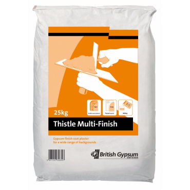 25KG THISTLE MULTI FINISH PLASTER *PLEASE NOTE THIS ITEM IS NON REFUNDABLE*