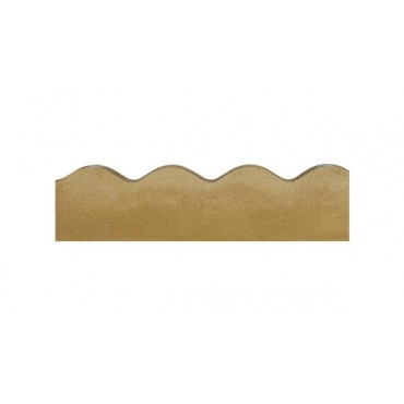 BRADSTONE CONTOUR (SCALLOPED) EDGING 600 X 150 BUFF