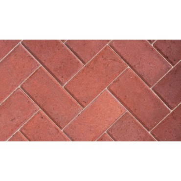 BRADSTONE EUROPA DRIVEWAY 50MM BLOCK PAVER RED 200MM X 100MM X 50MM
