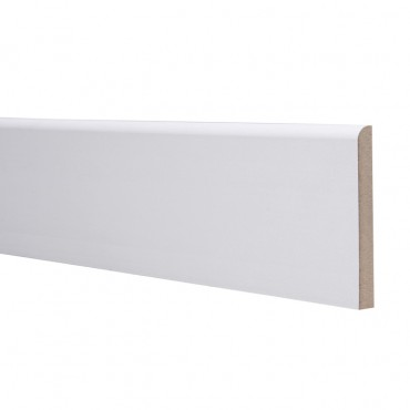 18 X 94 MDF SKIRTING 4.4M ROUNDED ONE EDGE