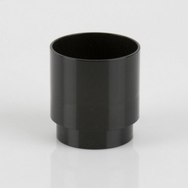 BR206 ROUND DOWNPIPE CONNECTOR BLACK
