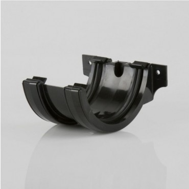 BR044 HALF ROUND UNION BRACKET BLACK
