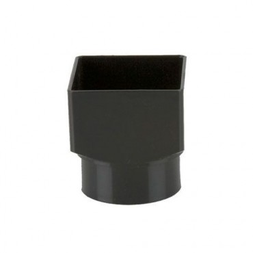 BR517 SQUARE TO ROUND DOWNPIPE ADAPTOR BLACK