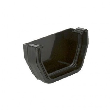 BR057 SQUARE GUTTER EXTERNAL STOPEND BLACK