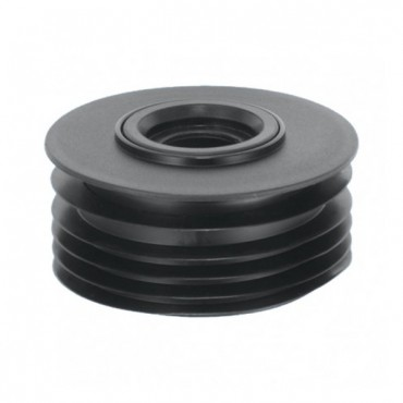 "MCALPINE DRAIN CONNECTOR BLACK 4""/110MM DC1BL"