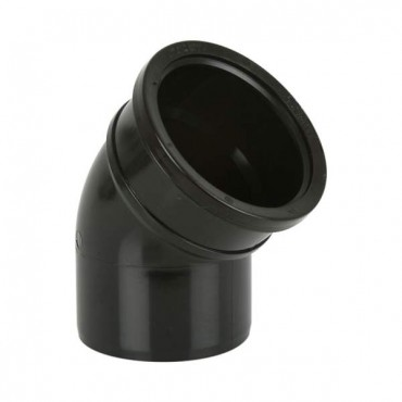 BS422 SOIL BEND SINGLE SOCKET 135' BLACK