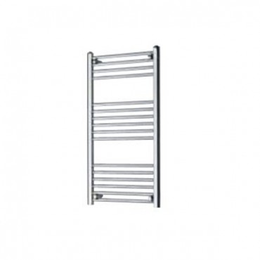 TOWEL RAIL STRAIGHT 500MM WIDE X 1000MM HIGH CHROME OUTPUT 357W 1218BTU