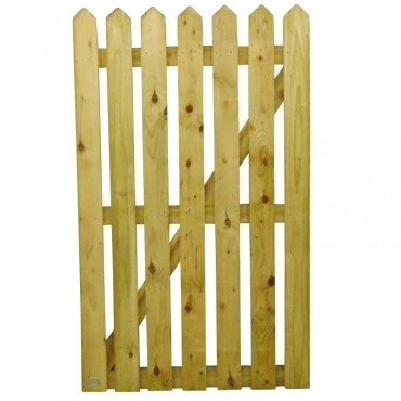 100MM POINTED PALING GATE TREATED 900MM (W)