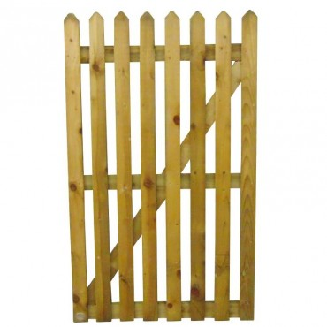 75MM POINTED PALING GATE TREATED 900MM (W)