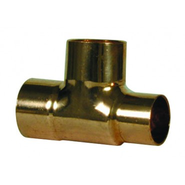 22MM X 22MM X 15MM ENDFEED REDUCING TEE C X C X C