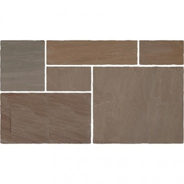 RAJ BLEND INDIAN STONE PATIO KIT 20.7 M2 PACK CLASSIC