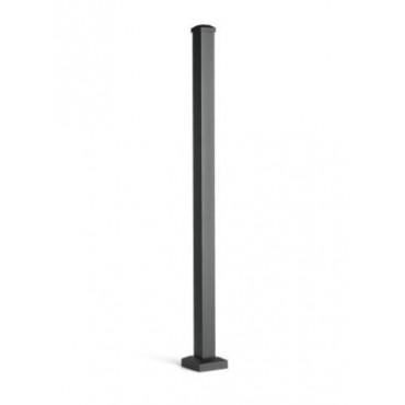 TREX BLACK ALUMINIUM POST WITH CAP & SKIRT 63MM X 63MM HORIZONTAL