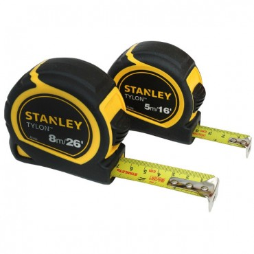 STANLEY TAPE MEASURE TWIN PACK 5M & 8M STA998985