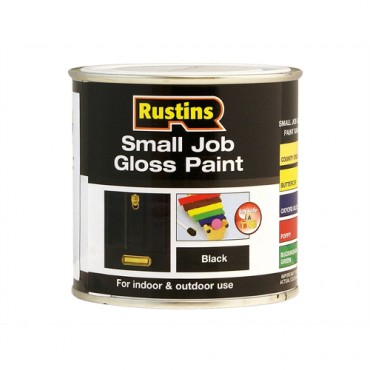 RUSTINS SMALL JOB BLACK 250ML GPBLW250