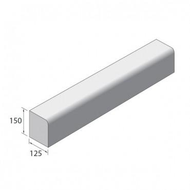 150 X 125 BULLNOSE KERB CENTRES