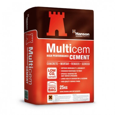 PLASTIC BAGGED 25KG CEMENT MULTI-CEM *PLEASE NOTE THIS ITEM IS NON REFUNDABLE*