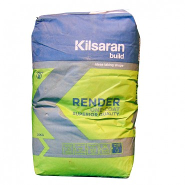 KILSARAN ONE COAT RENDER 25KG *NON-REFUNDABLE* WHITE